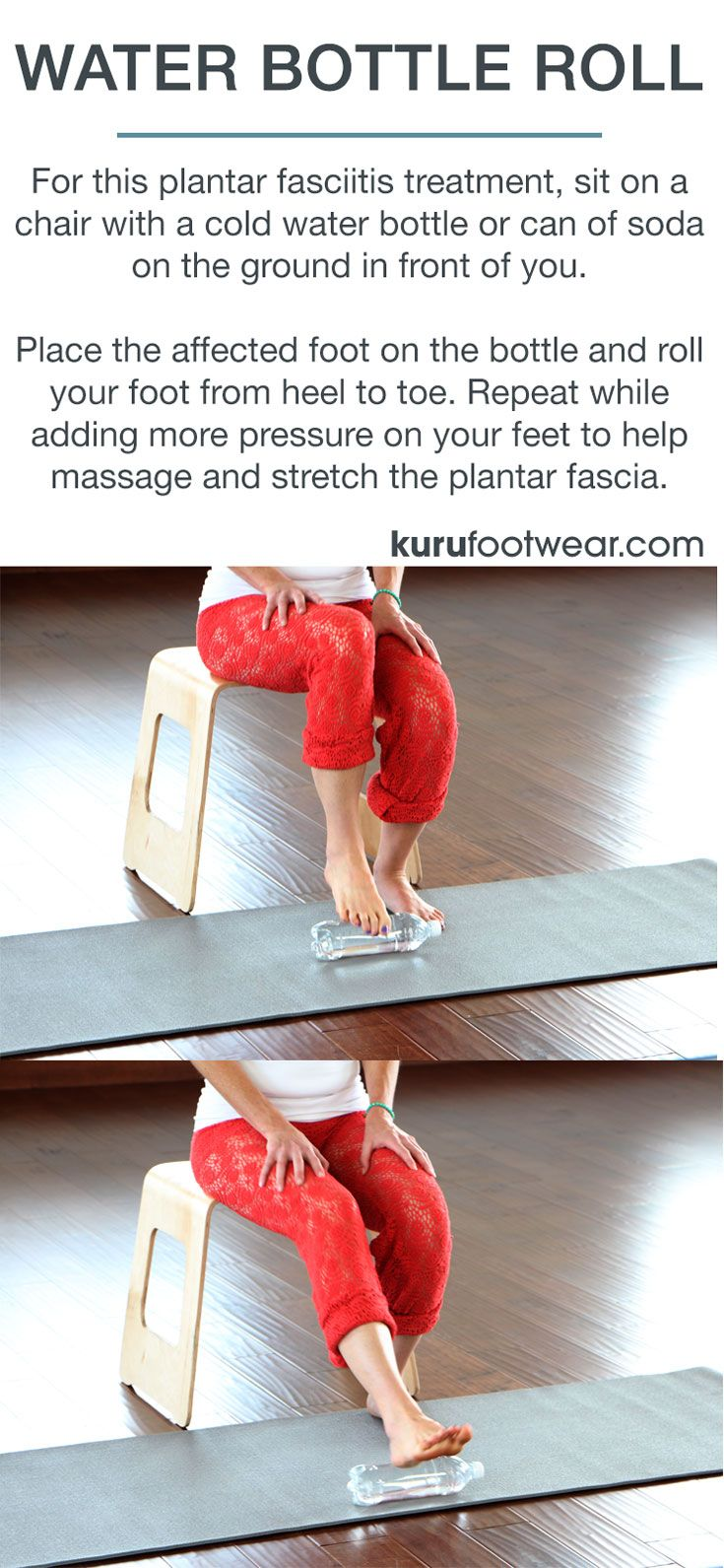 WATER BOTTLE ROLL FOR PLANTAR FASCIITIS. Best Treatment for Plantar Fasciitis Simple, proven plantar fasciitis treatments from the #1 favorite shoe for plantar fasciitis. Get ready to focus on others and be happy. Click to read 6 best treatments... www.kurufootwear.com