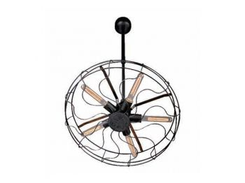 Nope, it's not a #retro ceiling fan. Don't expect a breeze but it will be definitely light up any room. #lights #lighting #fan