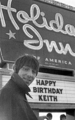 Keith Moon celebrated his 21st birthday at the Holiday Inn in Flint, Michigan by getting the Who permanently banned from all Holiday Inn facilities.