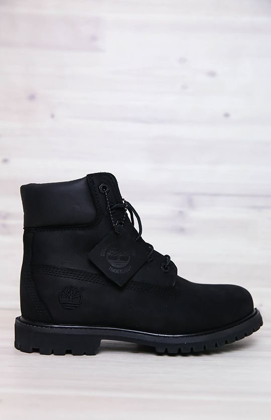 Timberland   Women's 6-Inch Premium Waterproof Boots - Black Nubuck   Back In Stock   Peppermayo