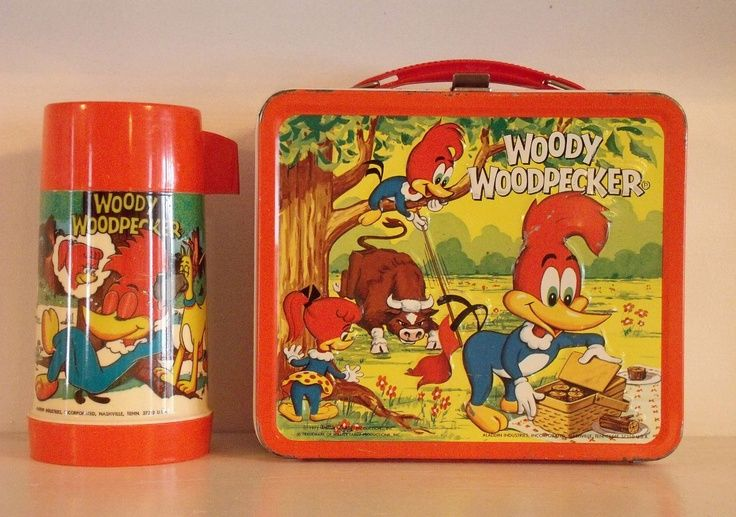 vintage lunch boxes | ... Woodpecker Vintage Lunch Box & Thermos ... | Vintage & Antique
