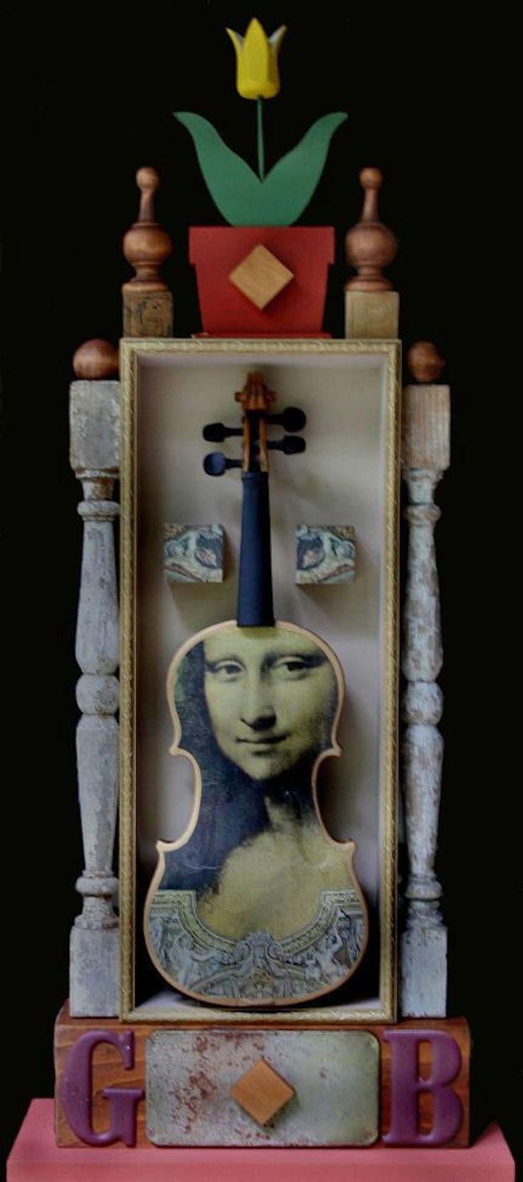 """Violin"" by Tom Potocki #charlestonart #chsart #sculpture #art"