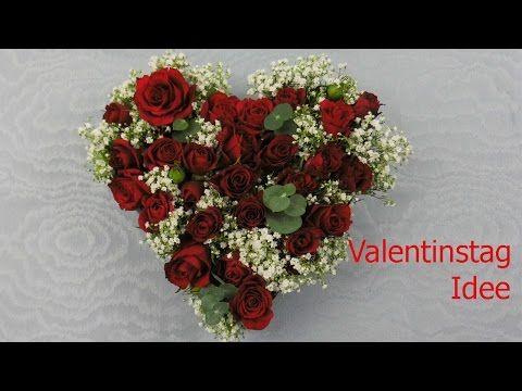 Floristik Valentinstag Geschenk selber machen Herz mit Rosen ❁ Deko Ideen mit Flora-Shop | flora-shop.eu