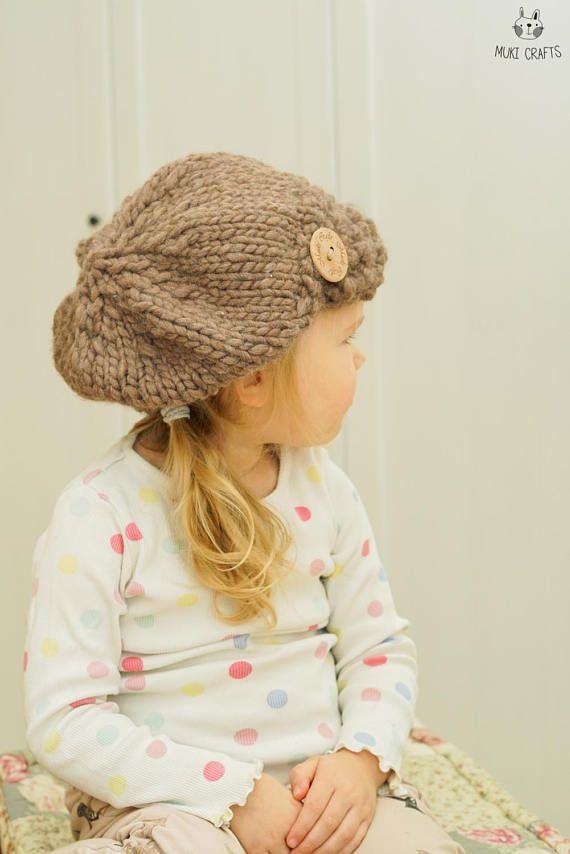 KNITTING PATTERN newsboy cap hat Morgan (toddler, child, woman, man ...