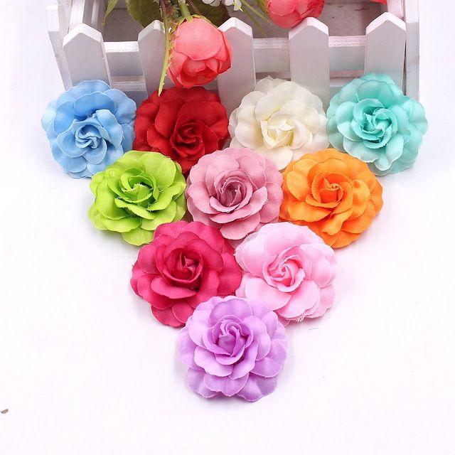 10pcs Lot Artificial Silk Mini Rose Flower Head Wedding Home Decoration Diy Garland Scrapbook Gift Box Craft Fake Flow Silk Rose Bouquet Silk Roses Diy Garland