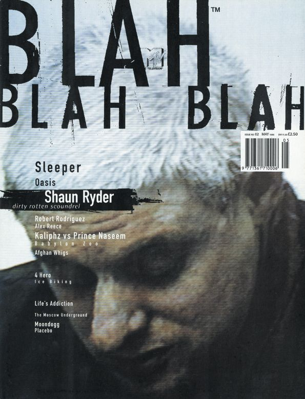 Blah Blah Blah, magazine, mai 1996 – Chris Ashworth, graphisme de la couverture.