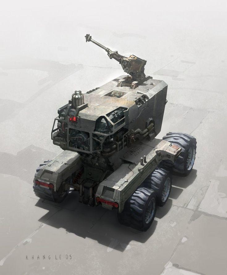 Concept vehicle art by Khang Le