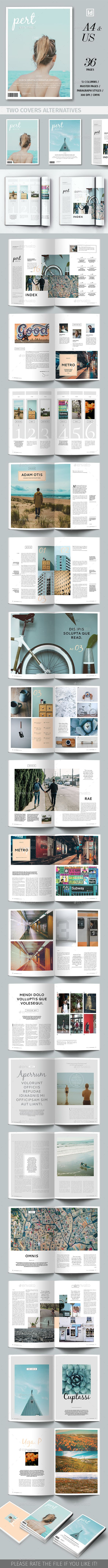 Pert Magazine Template — InDesign INDD #professional #multipurpose • Download ➝ https://graphicriver.net/item/pert-magazine-template/19707207?ref=pxcr