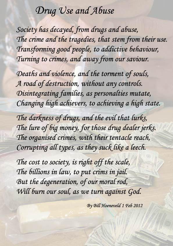 drug addiction poems family
