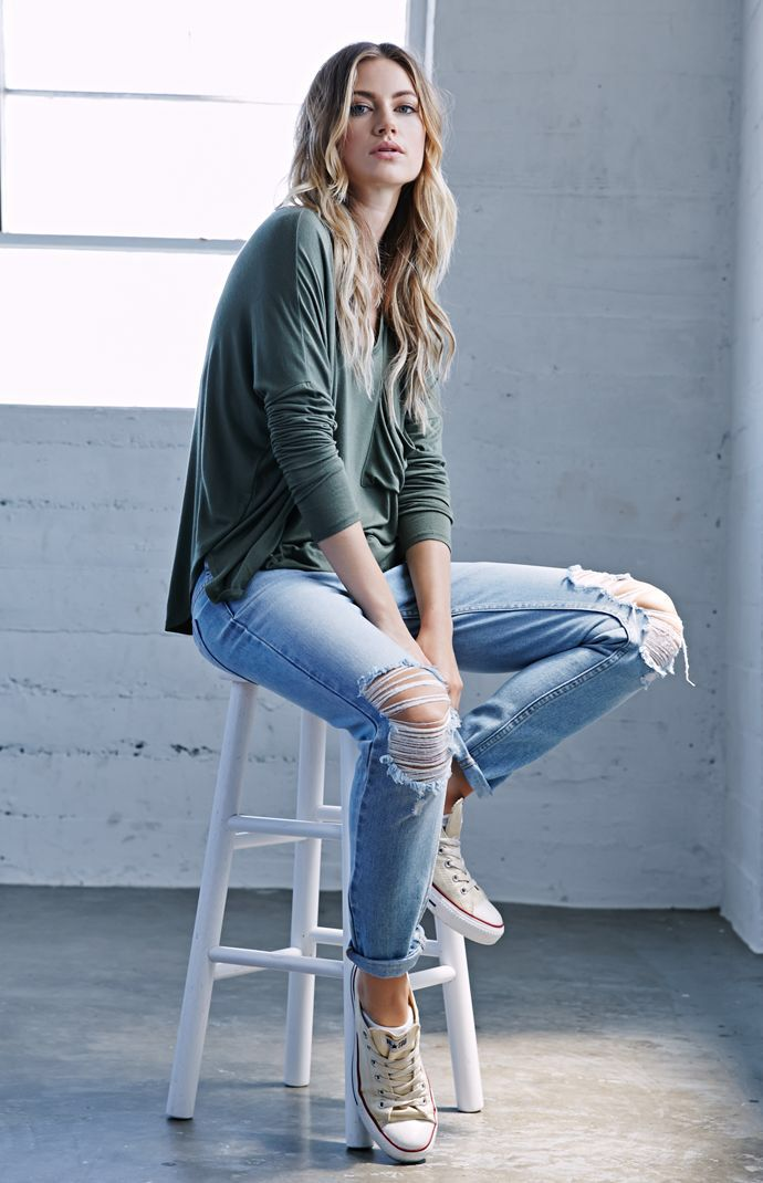 Hooked on Hayden Wash Ripped Skinny Boyfriend Jeans that I found on the PacSun App