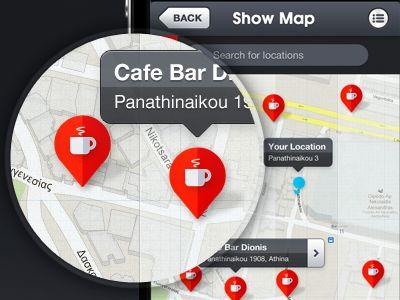 iOS App Map Pins Marker