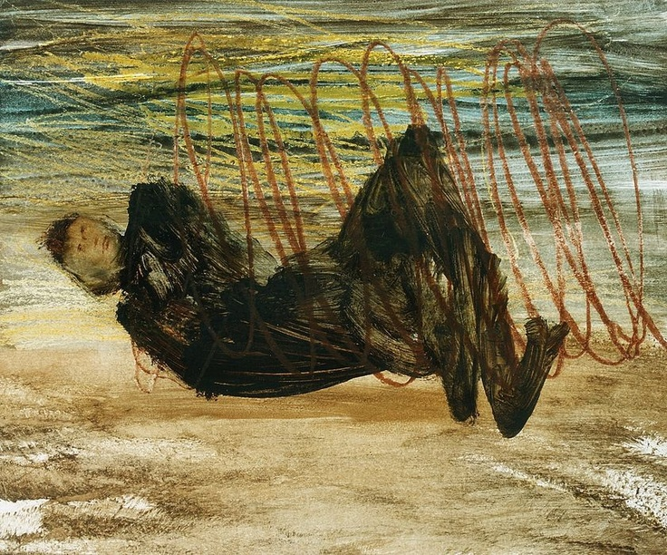 'Barbed wire entanglement' (1960) by Sidney Nolan.