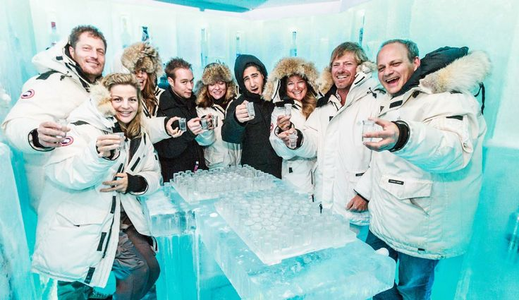Cheers! from the coldest Ice Room in the World.
