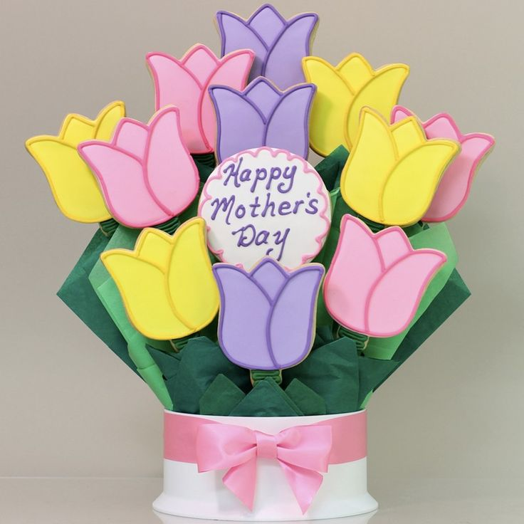 Mothers day cookie bouquet