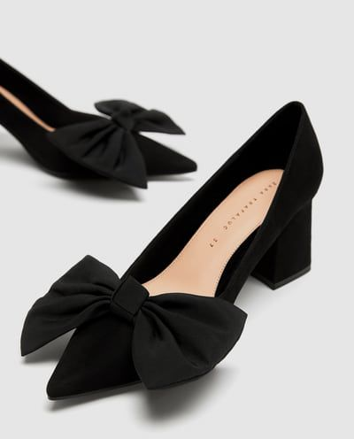 dc391f43dc9 Image 6 of MEDIUM HEEL COURT SHOES WITH BOW from Zara ...