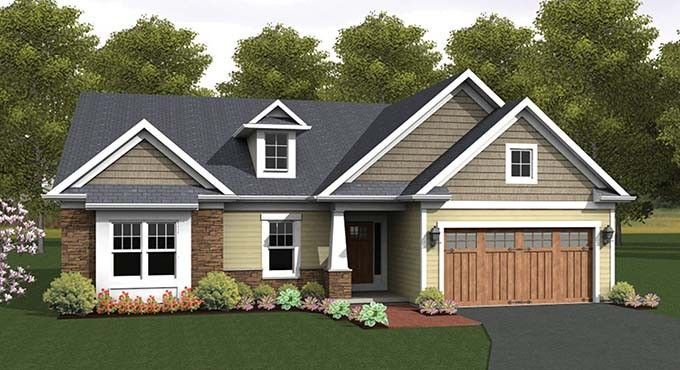 ePlans Ranch House Plan – Craftsman Accented Ranch – 1818 Square Feet and 2 Bedrooms from ePlans – House Plan Code HWEPL76923