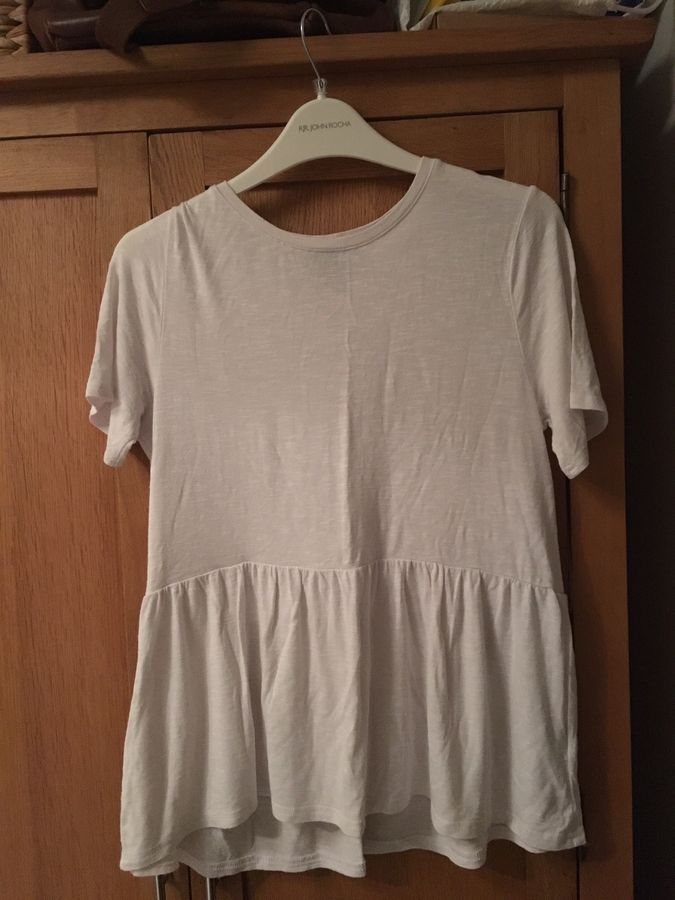 e6e6a8536 Atmosphere Size 12 White Peplum Casual Tshirt Never Been Worn#White# Atmosphere#Size