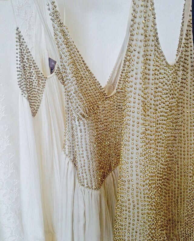 Beaded 'Martini dress & top' by Magali Pascal