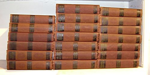 Complete works of Charles Dickens, 20 volumes: http://www.ebay.com/itm/WORKS-OF-CHARLES-DICKENS-20-volumes-complete-/150789262080?pt=Antiquarian_Collectible=item231bbd8b00
