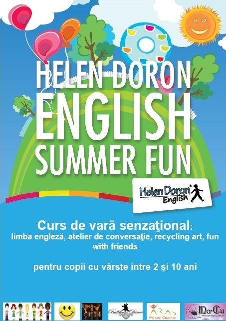 Cele mai cool cursuri ale verii le găsiți numai la Helen Doron English Arad! Toți prietenii copilului tău vor fi aici!