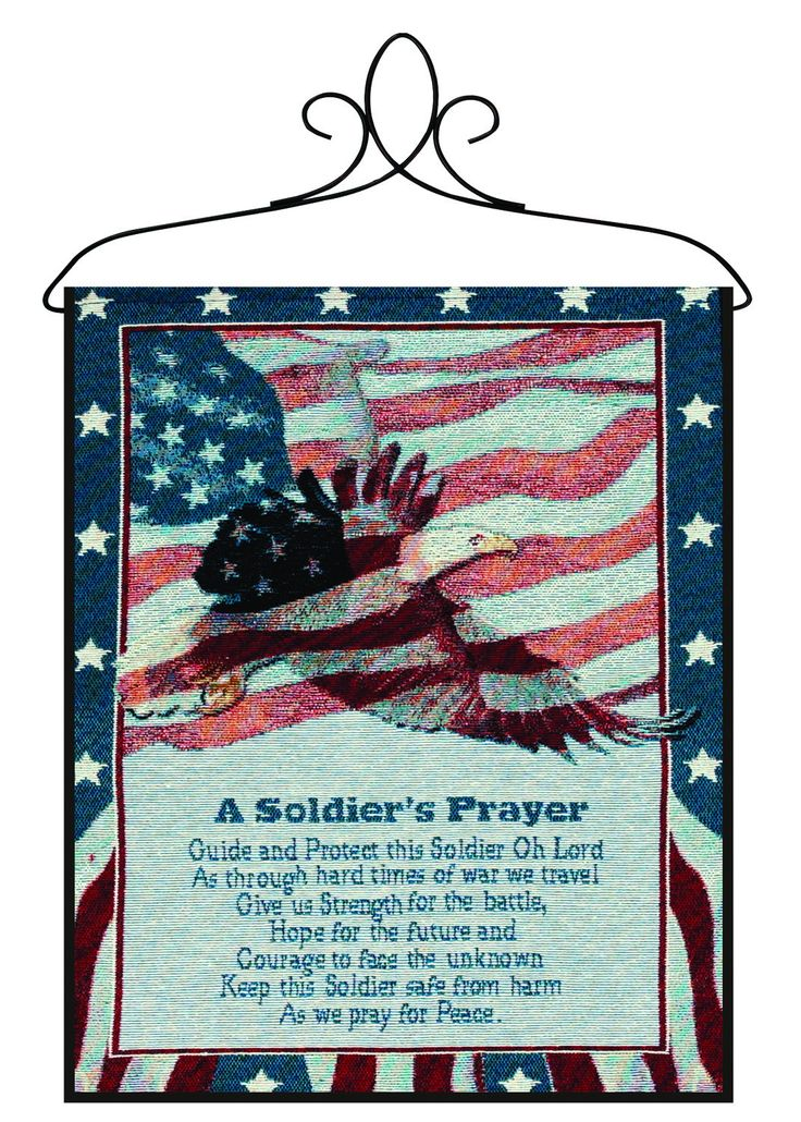 A Soldier's Prayer Bannerette Fine Art Tapestry