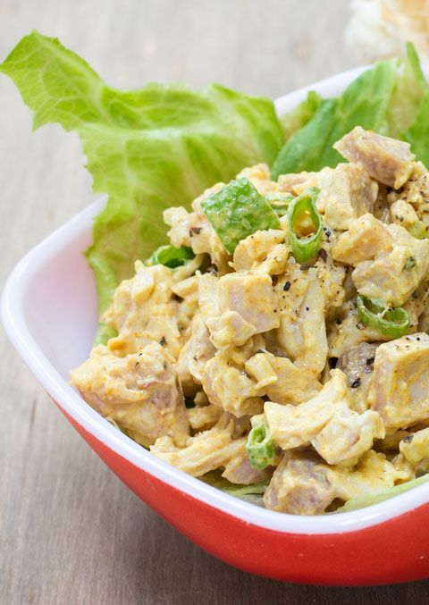 DAY 5 DINNER: Chicken Curry saute diced chicken, onion, curry powder, salt and pepper, garlic serve on lettuce or with your favorite veggie