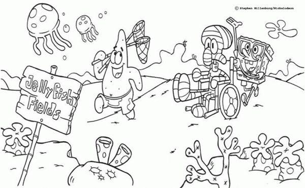 Juegos Para Colorear A Bob Esponja Y Sus Amigos