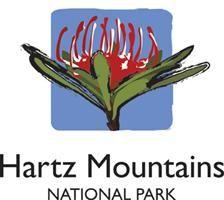 Hartz National Park, Tasmania, Australia. Logo.