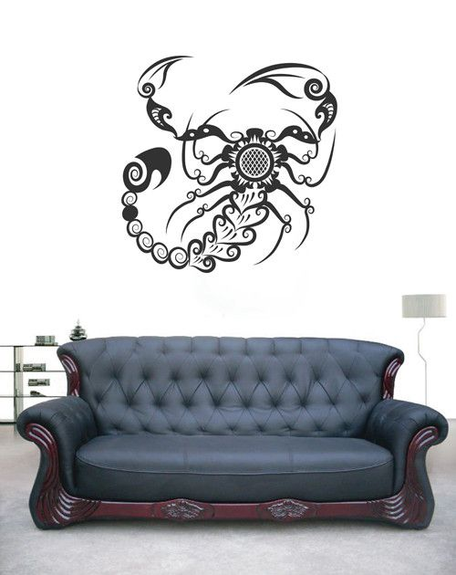 ik1736 Wall Decal Sticker Scorpion sign zodiac abstract bedroom living room