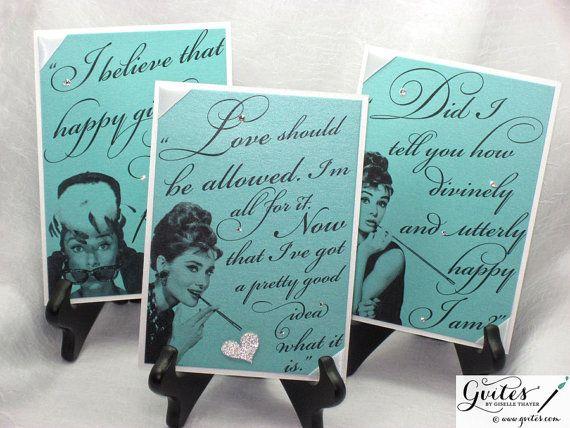 Tiffany Decorations - Audrey Hepburn Quote Signs - Table Decorations - Breakfast at Tiffany Decorations