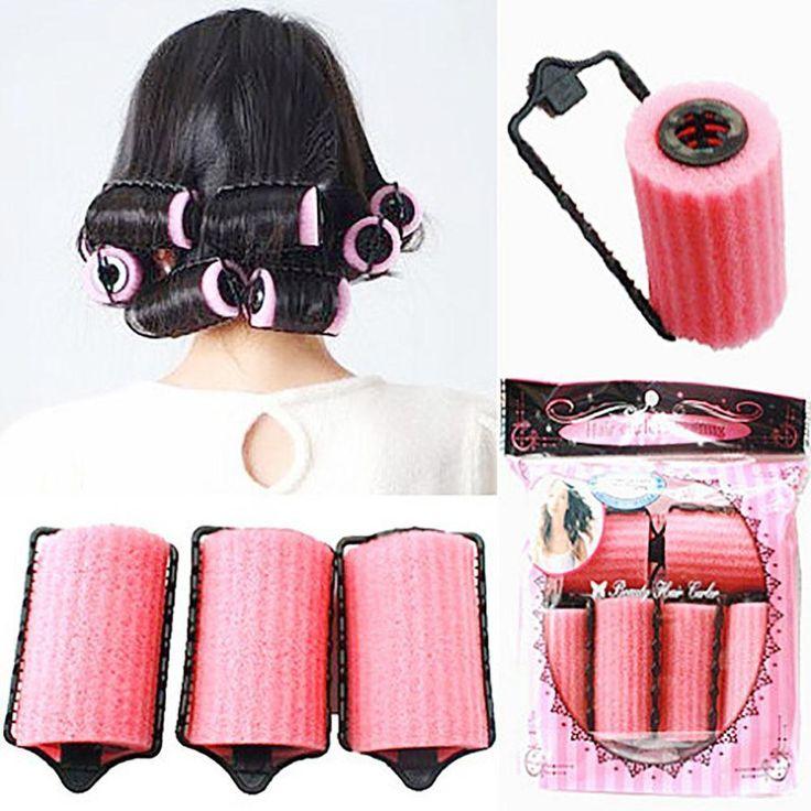 Magic Sponge Foam Cushion Hair Styling Rollers Curlers Twist Tool Salon Mt