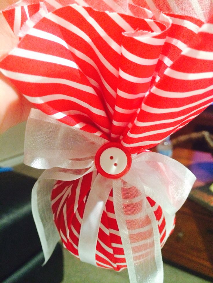 Red & White Christmas Tree Bauble (avail in small, medium & large)