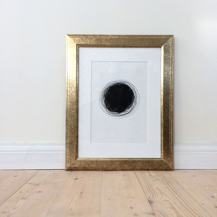 Black dot. Circle. Art. Ink. Drawing. Lines. Illustration. By Johanna Sandberg.