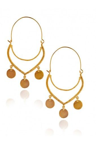 Maria Earrings - Gold Plated by Antonia Karra