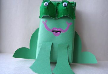 Homemade Frog Bank  In this fun hands-on activity, children make piggy banks that aren't pigs!