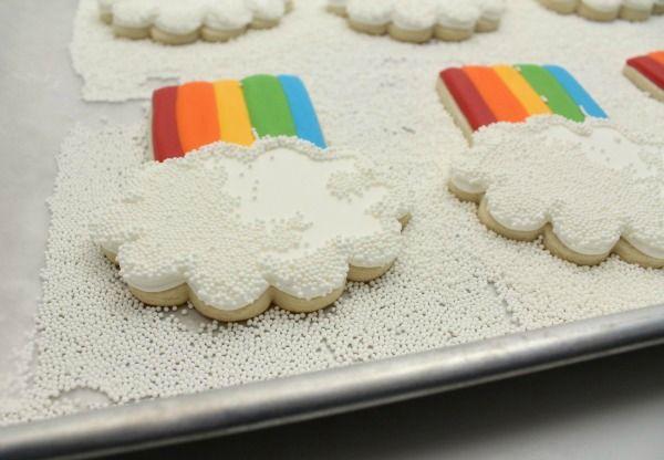 POPCORN COOKIES ♥ Rainbow White Color Design Art Food Pretty Beautiful Colorful Fashion ♥ oreos cookies