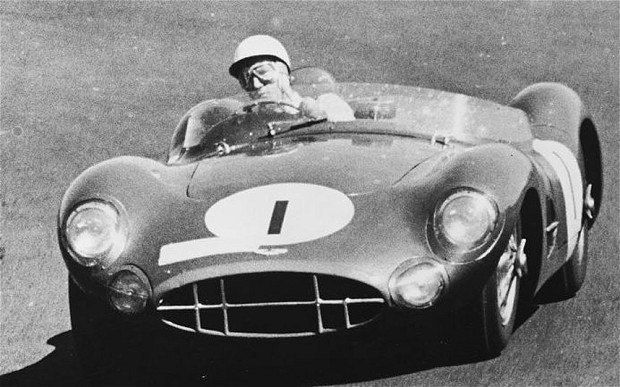 1958: one of his best drives, winning the 1,000km race at the Nurburgring almost single-handedly in an Aston Martin DBR1