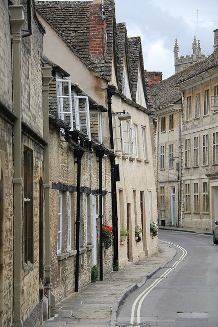 Coxwell Street, Cirencester, Gloucestershire, England. One of the oldest streets in the town...well,  England!