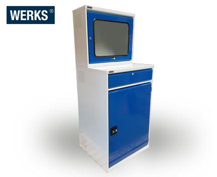 WERKS Computer Cabinet Workstation. Buy Workshop & Factory Online - Materials Handling - Backsafe Australia: https://www.backsafeaustralia.com.au/products/workshop-factory