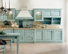 What to pair with Duck-Egg Blue kitchen cabinets? - Houzz