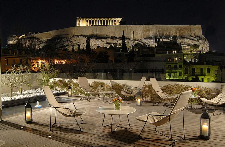 During dusk and at nightime, you can enjoy the #Acropolis and the #Museum illuminated. A sight that only a privileged few can enjoy.