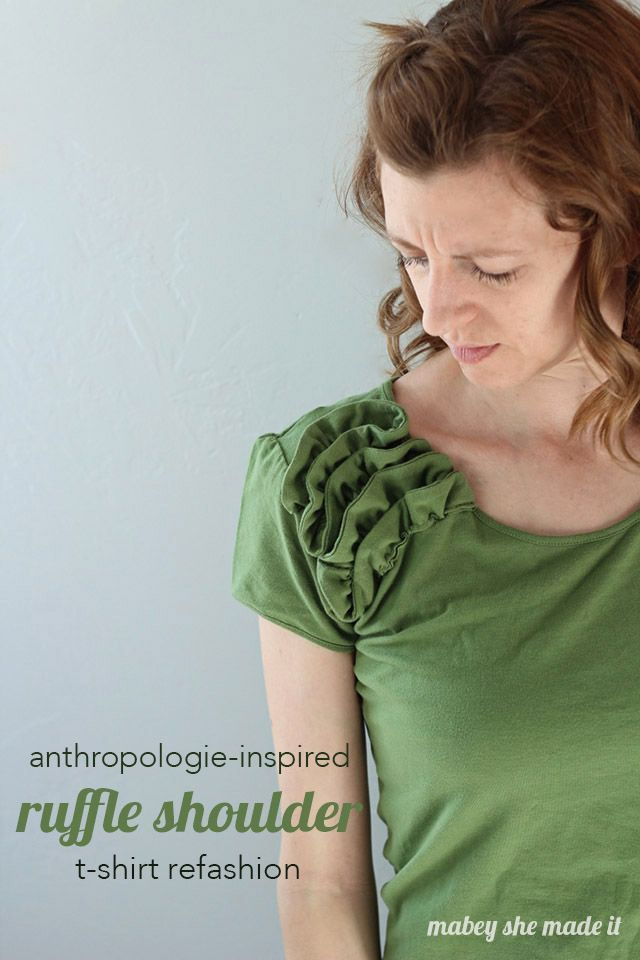 This tutorial for an anthropologie-inspired t-shirt refashion is so fun