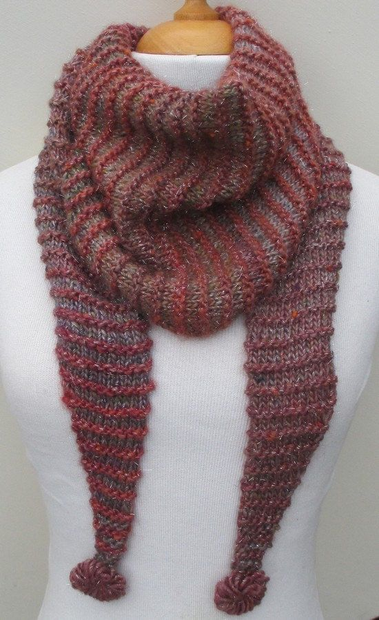 Kit à tricoter Chèche de la boutique Sylviecambet sur Etsy