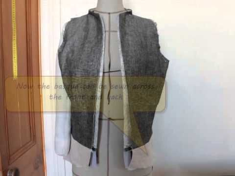 waistcoat with zip and basque