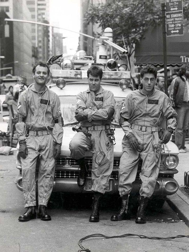 Bill Murray, Dan Aykroyd and Harold Ramis on the set of Ghostbusters - Imgur