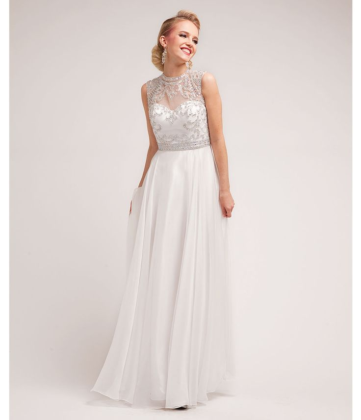 2014 Prom Dresses - Off White Grecian & Beaded Grecian Gown - Unique Vintage - Prom dresses, retro dresses, retro swimsuits.