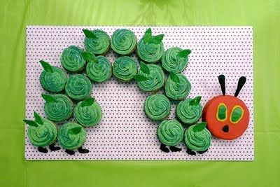 very hungry caterpillar cupcakes!