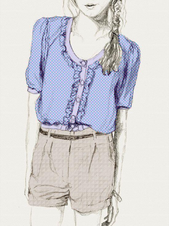 draw, girl, desenhos