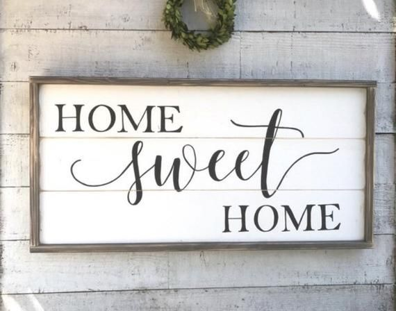 Home sweet home, framed shiplap wood sign