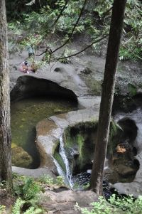 At the upper falls of Kanaka Creek Regional Park in Maple Ridge, magic is captured in smooth-shaped depressions where polished rocks seem pu...